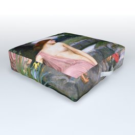 Echo And Narcissus WM Waterhouse Outdoor Floor Cushion