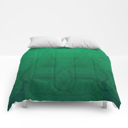 Round and About Emerald Comforters