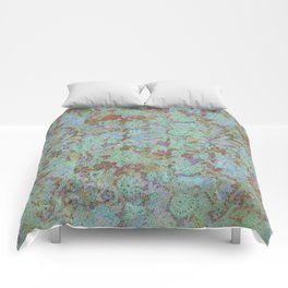 Flowers Under - Cool Colors Comforters