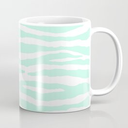 Mint Green & White Animal Print Coffee Mug