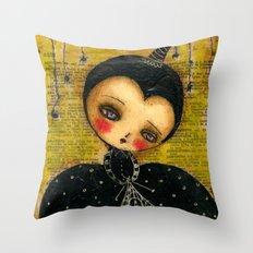 Spider Woman Hallowen Art Throw Pillow