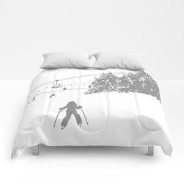 Little Skier - Grey Comforters