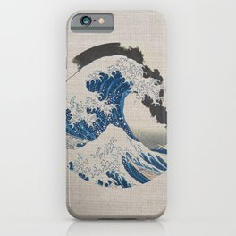 Great Wave Off Kanagawa Erupting Mount Fuji iPhone Case