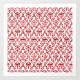 Chinese Papercut Red and White Art Print