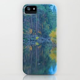 Autumn Dawn at Merced River iPhone Case