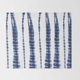 Indigo Blue Tie Dye Delight Throw Blanket
