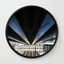 Scottish Photography Series (Vectorized) - Under The Bridge Wall Clock