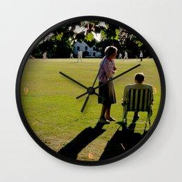 The Cricket Match Wall Clock