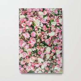 Pink Summer Flowers Metal Print