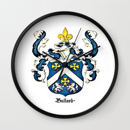 Family Crest - Bullard - Coat of Arms Wall Clock