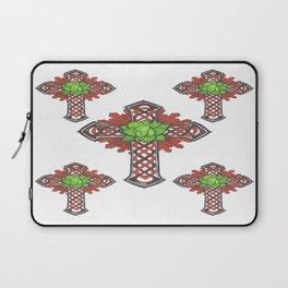 crystal celtic cross Laptop Sleeve