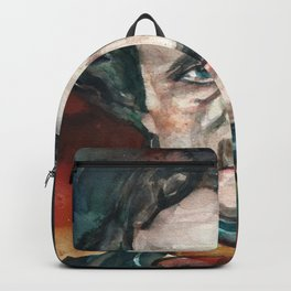 EDGAR ALLAN POE - watercolor portrait.4 Backpack