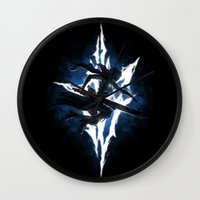 returns Wall Clocks featuring Lightning Returns by Six Eyed Monster