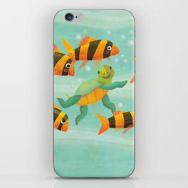 Baby Turtle's New Friends iPhone Skin