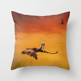 Pelican Heaven Throw Pillow