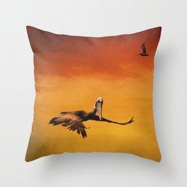 Pelican Heaven Throw Pillow