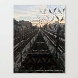 LIFE TRACKS Canvas Print