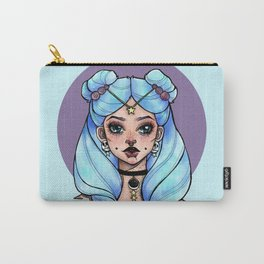 Blue Space Buns Carry-All Pouch