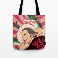 johannathemad Tote Bags featuring dragon by JohannaTheMad