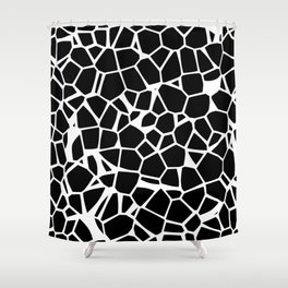 Voronoi Essentials Shower Curtain