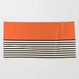 Sunrise / Sunset - Orange & Black Beach Towel