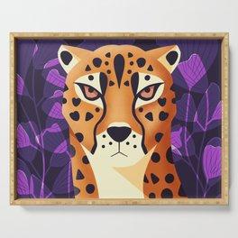 Wildlife 002 Cheetah Serving Tray