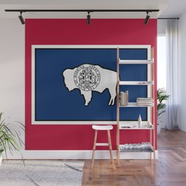 Wyoming State Flag Wall Mural