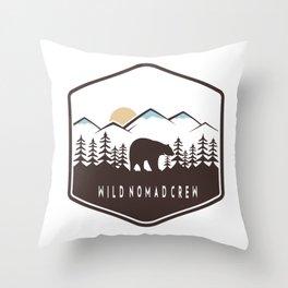 Wild Nomad Crew Throw Pillow