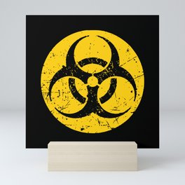 Biohazard Symbol Two Mini Art Print