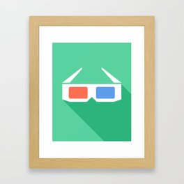 3D Glasses. Framed Art Print