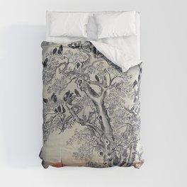 Kawanabe Kyosai - Flock Of Crows At Dawn - Digital Remastered Edition Comforters