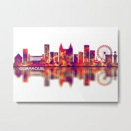 Guayaquil Ecuador Skyline Metal Print