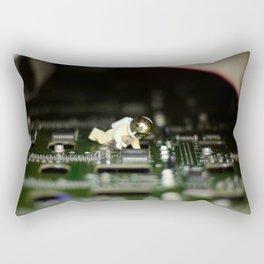 Green Moon Rectangular Pillow