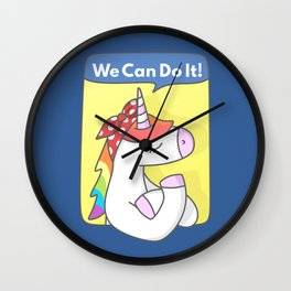 Unicorn Girl Power Wall Clock