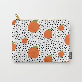 Polka Dot Oranges Carry-All Pouch
