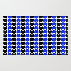 HobNob BlueBlack Print, Canvas and Laptop/iPad Skin Rug