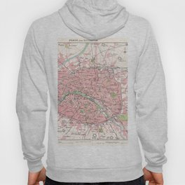 Antique Map of Paris & Environs Hoody