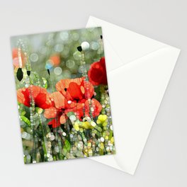 Poppy Mosaic Stationery Cards