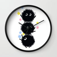 spirited away Wall Clocks featuring Spirited Away  by TokiBuni