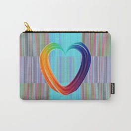 Fractal Art- Pattern Art- Heart Art- Blue Hearts-Pixxie Stixx- LGBT Art- Love- Healing Energy Art Carry-All Pouch