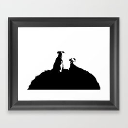 even dogs fall in love Framed Art Print