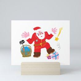 Disappointed santa Mini Art Print