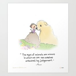 Girl/Dog  Art Print