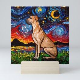 Fawn Great Dane Night Mini Art Print