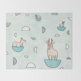 peninsular pronghorn Throw Blanket