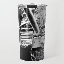 Black And White Basketball Art Travel Mug