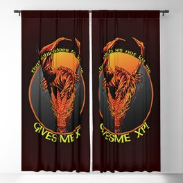 Dragon Experience Points Blackout Curtain