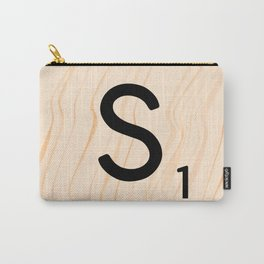Scrabble Letter S - Large Scrabble Tiles Carry-All Pouch
