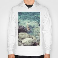 swimming Hoodies featuring SWIMMING by Marte Stromme