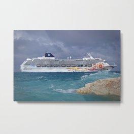 Norwegian Sun - Great Stirrup Cay Metal Print